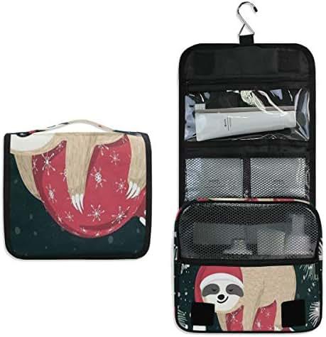 Merry Christmas Large Capacity Hanging Toiletry Bag for Men & Women, Portable Waterproof Bathroom Shower Bag, Lightweight Dopp kit Shaving Bag, Sturdy Metal Hook Organizer Makeup Bag