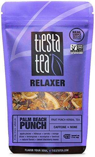 Tiesta Tea Palm Beach Punch, Fruit Punch Herbal Tea, 30 Servings, 2 Ounce Pouch, Caffeine Free, Loose Leaf Herbal Tea Relaxer Blend, -