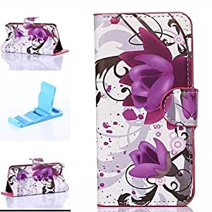 FJM Water Lily of Ink Style Pattern PU Leather Full Body Cover with Stand for iPhone 6