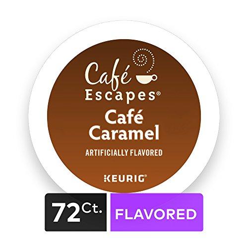 Cafe Escapes Cafe Caramel, Keurig K-Cups, 72 Count