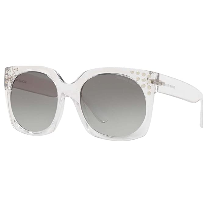 Michael Kors 0MK2067, Gafas de Sol para Mujer, Clear Crystal, 56