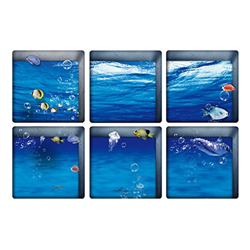 MagiDeal 3D Self-adhesive Bathtub Non Slip Appliques Stickers Decals Tub Tattoos - (Self Adhesive Bath)