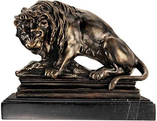 Design Toscano Lion on Boar Statue