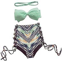 David Salc Women Bow High Waist Swimsuit Bikini