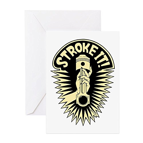 [CafePress - Stroke It! (Off White) - Greeting Card, Note Card, Birthday Card, Blank Inside Matte] (Sexy Pirate Chicks)