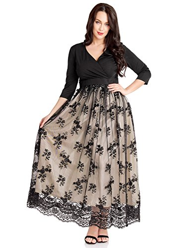 ladies 3/4 sleeve evening dresses - 3