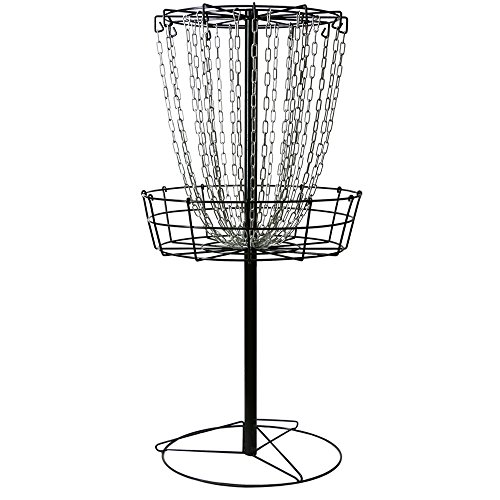 (MVP Black Hole Practice 24-Chain Portable Disc Golf Basket Target)