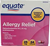 Equate - Allergy Relief, Diphenhydramine 25