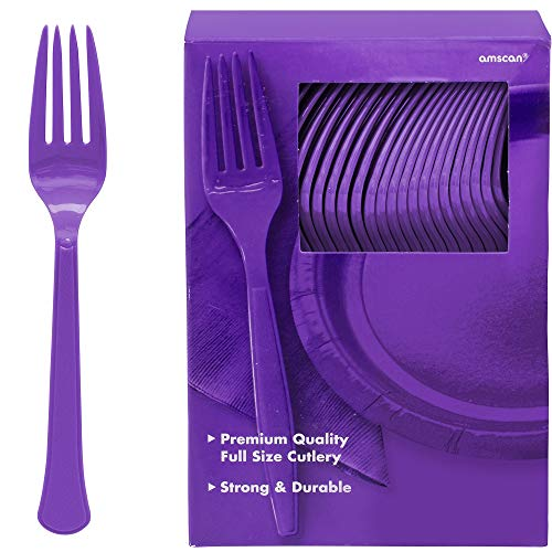 Big Party Pack Plastic Forks | New Purple | 100 ct. | Party Supply