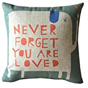 "Pillow Case,Vovotrade Linen Square Throw Flax Pillow Case Decorative Cushion Pillow Cover 45cmx45cm/17.7x17.7"" (A)"