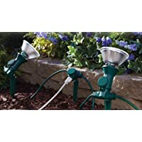 Yard Master 17322 25-Feet 3-Outlet Outdoor Extension Cord with Attachable Light Socket Stakes, Green by Yard Master