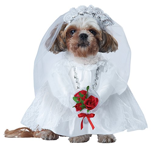 California Costume Collections Puppy Love-Bride Dog Costume, (Puppy Love Bride Dog Costumes)