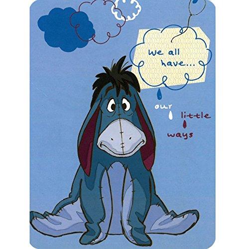 Disney Winnie the Pooh Eeyore Our Little Ways 60x80 Twin Mink Style Blanket (Ta Ta For Now Winnie The Pooh)