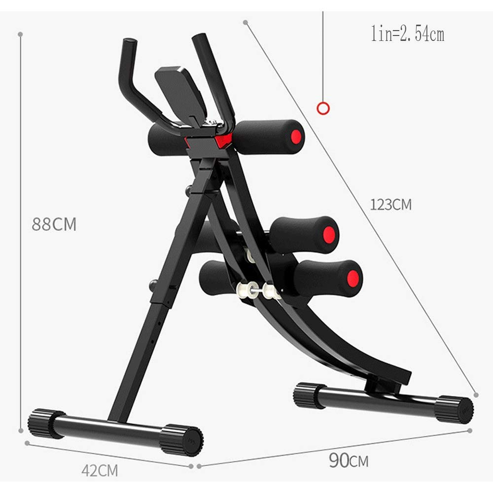 Byx- Abdominal Lazy Thin Belly Artifact Exercise Fitness Equipment Home Exercise Abdominal Muscles Men and Women Thin Waist Beauty Waist Machine -Roller Wheel (Color : A) by Byx- (Image #9)