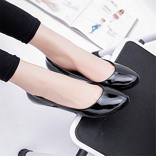 TMKOO 2017 nueva pendiente con un solo zapato zapatos madre alrededor de OL zapatos casuales de carrera Negro