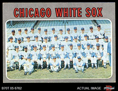1970 Topps # 501 White Sox Team Chicago White Sox (Baseball Card) Dean's Cards 4 - VG/EX White Sox