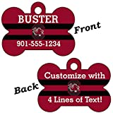 South Carolina Gamecocks Double Sided Pet Id Dog Tag Personalized With 4 Lines of Text