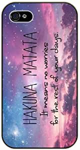 Hakuna Matata - Nebula sky - The Lion King - iPhone 5C black plastic case / Inspiration Walt Disney quotes