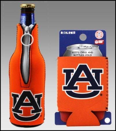 セットの2オーバーンTigers Can & Bottle Koozie Cooler B002OCAA5W