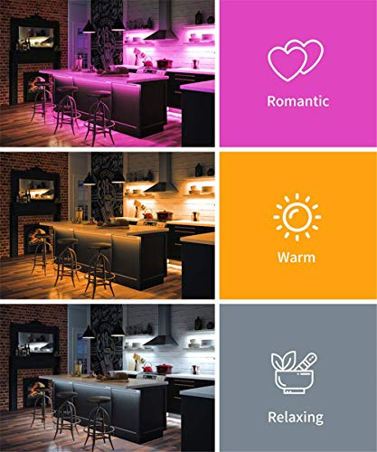 LED Strip Lights 32.8FT/10M 300 LEDs Waterproof RGB Light Strip Kits with Remote for Room, Bedroom, TV, Kitchen, Desk, Color Changing Light Strip Kit SMD5050 with 3M Adhesive, 12V Power Supply