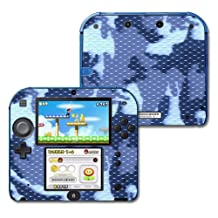 Mightyskins Protective Vinyl Skin Decal Cover for Nintendo 2DS wrap sticker skins Blue Camo