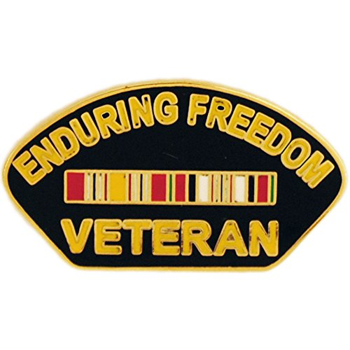 Enduring Freedom Veteran Pin With Ribbon Military Collectibles for Men Women