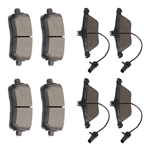 OCPTY Ceramic Brakes Pads, Quick Stop Front Rear Brake Pad fit for 2008-2009 Audi A4/A4 Quattro,2006-2008 2010 Audi A6,2005-2009 2011 Audi A6 Quattro,2004-2006 2008-2009 Audi S4 (Audi A4 Rear Brakes)