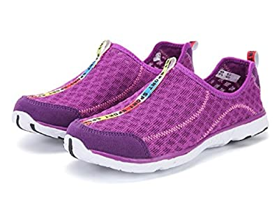 Women's and Men's Quick Drying Breathable Mesh Lightweight Slip On Aqua Water Shoes