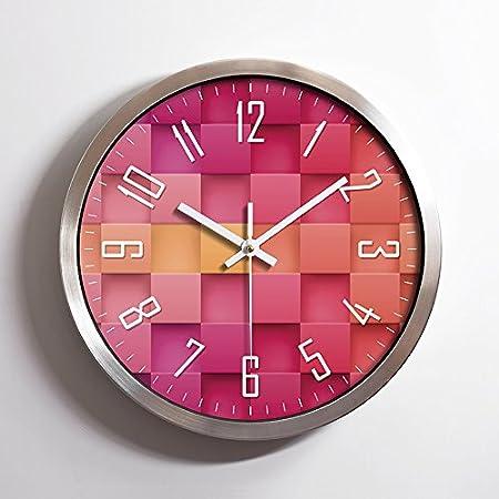 Foxtop 12 inch Modern Stylish Elegant Silent Non-ticking Round Wall ...