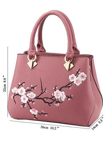 Womens Pu Noir Rosé Menschwear À Ladies Purse Bandoulière Leather Grand Sac A6ndq7w