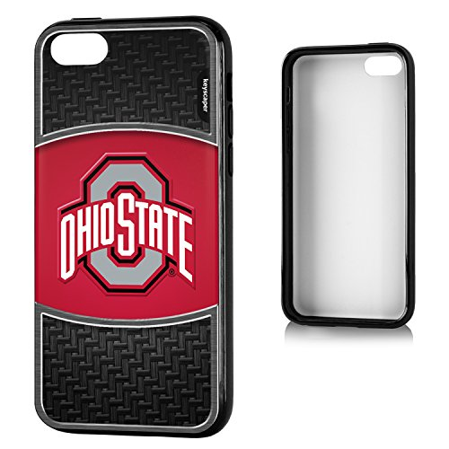 Ohio State Buckeyes iPhone 5C Bumper Case officially licensed by Ohio State University for the Apple iPhone 5C by keyscaper® Flexible Full Coverage Low Profile (Low Profile Iphone 5c Case compare prices)