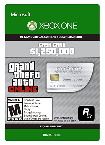 Cash is king in this town. Solve your money problem and help get what you want across Los Santos and Blaine County with the Great White Shark Cash Card worth $1,250,000 in-game GTA dollars to spend in Grand Theft Auto Online. All purch...
