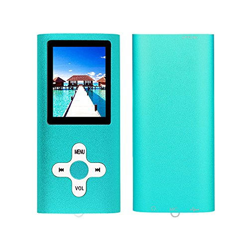 RHDTShop MP3 MP4 Player 16 GB Micro SD Card, Support UP to 64GB TF Card, Rechargeable Battery, Portable Digital Music Player, Blue