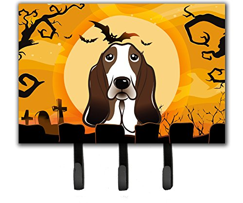Caroline's Treasures BB1801TH68 Halloween Basset Hound Leash or Key Holder, Large, Multicolor]()