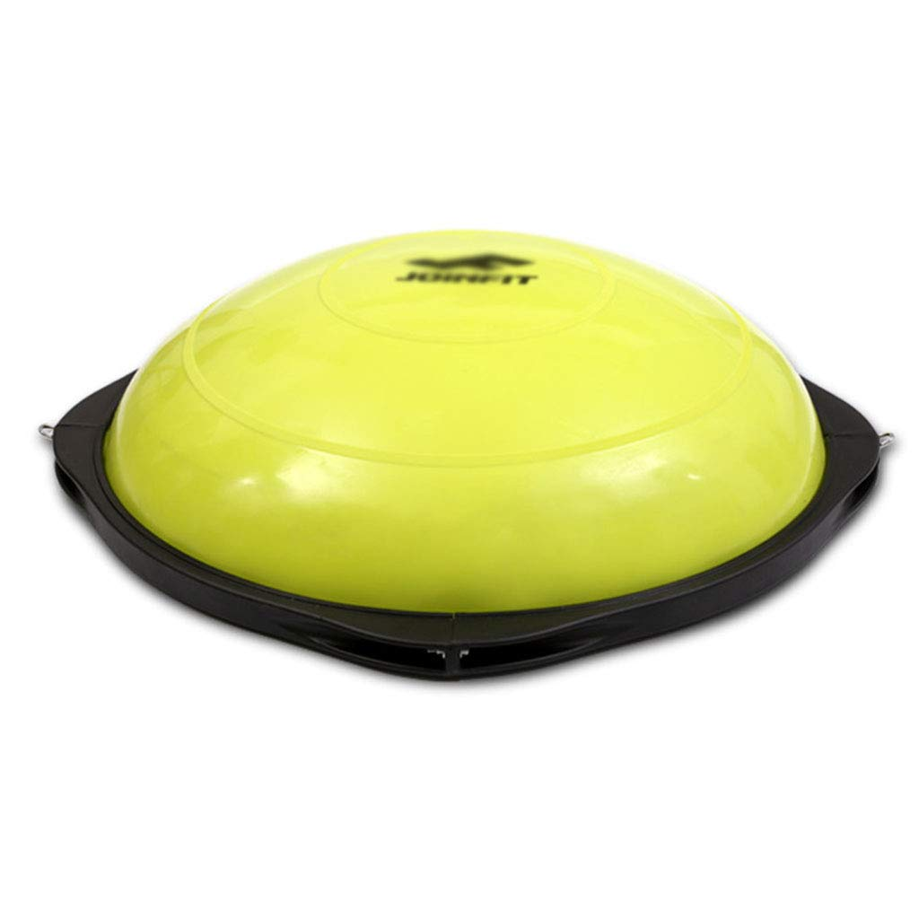 Exercise Ball Chairs Semicircular Balance Ball Wave Speed Ball Yoga Fitness Hemisphere Gym Pilates Ball (Color : Yellow, Size : Diameter 63cm21cm)