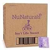 NuNaturals White Stevia Powder All Purpose Natural Sweetener, Sugar-Free (1,000 Packets)
