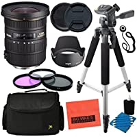 Sigma 10-20mm f/3.5 EX DC HSM ELD SLD Aspherical Super Wide Angle Lens for Canon Digital SLR Cameras - Advanced Kit