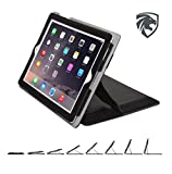 ZOOGUE Case Genius Pro iPad 4, iPad 3 and iPad 2 Case - Leather Case Cover and Flip Stand with Elastic Hand Strap and Premium Micro Fiber Interior. Automatically Wakes and Puts the iPad 4, 3 & 2 to Sleep (BLACK)