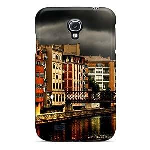 DonaldWS Fashion Protective Dark Town Architecture Case Cover For Galaxy S4