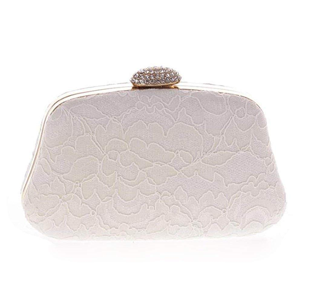 Young shinee, Damen Clutch, weiß (Weiß) - Young shinee B07P4D2TJ1 Clutches Karamell, sanft