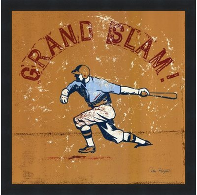 - Poster Palooza Framed Grand Slam- 12x12 Inches - Art Print (Classic Black Frame)