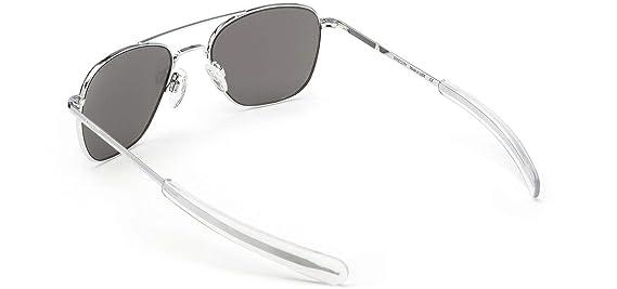 Randolph Aviator Sunglasses Bright Chrome/Bayonet/Skyforce American Gray 58mm