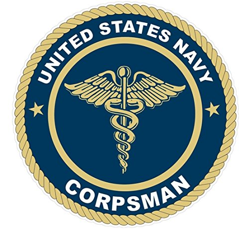 1 Pc Professional Popular U.S. Navy Corpsman Stickers Signs Wall Decor Military Size 4.5' x 4.5'