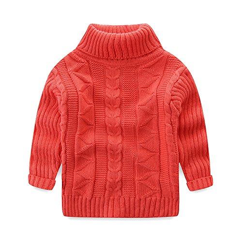 Mud Kingdom Toddler Boys Girls Turtleneck Pullover Base Tops Sweater 2T ()
