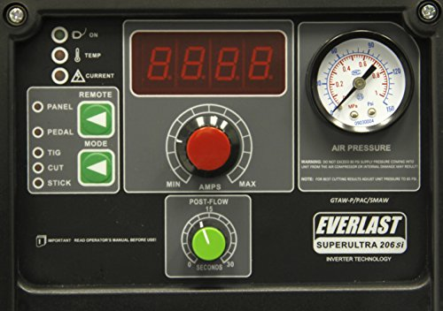 2017 Everlast SuperUltra 206si 200a Tig Stick 50a Plasma Cutter Multi Process...