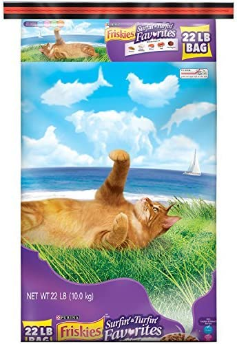 Friskies Dry Cat Food, Surfin and Turfin Favorites, 22-Pound Bag by Purina Friskies