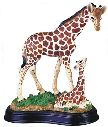 StealStreet SS-G-54004 Giraffe with Baby Collectible Wildlife Figurine Sculpture Statue Model (Figurines Giraffe)