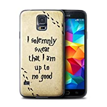 STUFF4 Phone Case / Cover for Samsung Galaxy S5/SV / Marauders Map Design / School Of Magic Collection