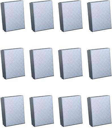 Artibetter 12 Piezas de Cajas de Regalo de Joyería Caja de Regalo de Caja de Joyería de Papel de Cartón Lleno de Esponja para Pulseras Collar Pendiente 12 Piezas (Gris Plateado): Amazon.es:
