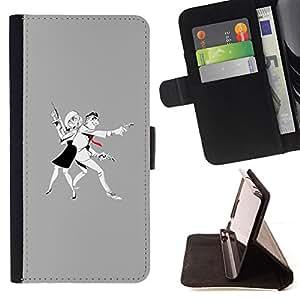 /Skull Market/ - MAN WOMAN CRIMINAL GUN ART DRAWING For Samsung Galaxy S5 Mini, SM-G800 - Caja de la carpeta del tir???¡¯???€????€??????&aci
